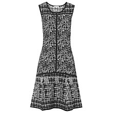 Buy Reiss Cleopatra Fit & Flare Dress, Black/White Online at johnlewis.com