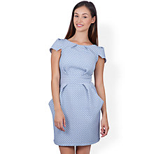 Buy Closet Heart Jacquard Dress, Pale Blue Online at johnlewis.com