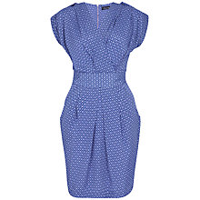 Buy Closet Retro Print Wrap Dress, Blue Online at johnlewis.com