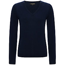 Buy Jaeger Gostwyck V-Neck Jumper, Navy Online at johnlewis.com