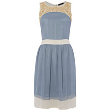 Buy Rise Olivia Dress, Blue Cream Online at johnlewis.com