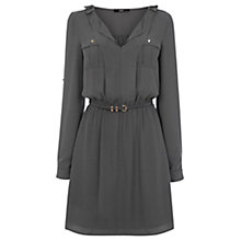Buy Oasis Utility Pocket Shirt Dress, Mid Grey Online at johnlewis.com
