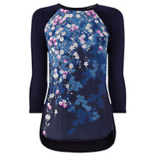 Buy Oasis Blossom Print Top, Multi Blue Online at johnlewis.com