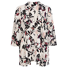 Buy Oasis Trailing Floral Kimono Jacket, Multi White Online at johnlewis.com