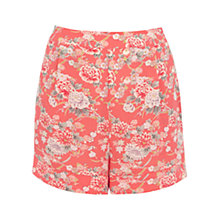 Buy Oasis Trailing Oriental Shorts, Multi Orange Online at johnlewis.com