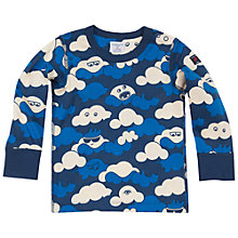 Buy Polarn O. Pyret Cloud Print Top, Blue Online at johnlewis.com