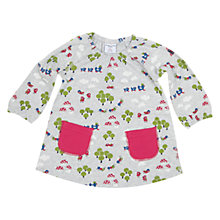 Buy Polarn O. Pyret Baby's Woodland Dress, White/Multi Online at johnlewis.com
