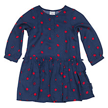 Buy Polarn O. Pyret Girl's Fox & Spot Dress, Blue Online at johnlewis.com