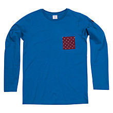 Buy Polarn O. Pyret Boy's Star Pocket Jersey Top, Blue Online at johnlewis.com