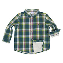 Buy Polarn O. Pyret Baby's Lined & Check Shirt, Green Online at johnlewis.com