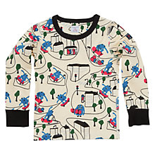 Buy Polarn O. Pyret Children's Cityscape Print Jersey, White/Multi Online at johnlewis.com