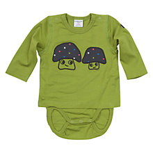 Buy Polarn O. Pyret Baby's Mushroom Bodysuit, Green Online at johnlewis.com
