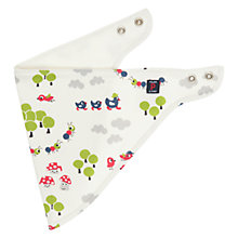 Buy Polarn O. Pyret Reversible Woodland Baby Bib, White Online at johnlewis.com