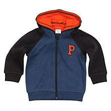 Buy Polarn O. Pyret Colour Block Hoodie, Blue Online at johnlewis.com