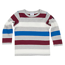 Buy Polarn O. Pyret Block Stripe Long Sleeve Jumper, Grey/Multi Online at johnlewis.com