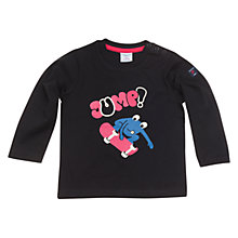 Buy Polarn O. Pyret Frog Skater Long Sleeve Top, Black Online at johnlewis.com