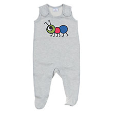 Buy Polarn O. Puret Ant Motif Romper, Grey Online at johnlewis.com