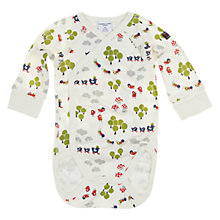 Buy Polarn O. Pyret Woodland Wrap Bodysuit, White Online at johnlewis.com