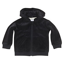Buy Polarn O. Pyret Velour Hoodie, Black Online at johnlewis.com