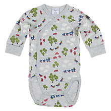 Buy Polarn O. Pyret Woodland Wrap Bodysuit, Grey Online at johnlewis.com