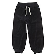 Buy Polarn O. Pyret Velour Trousers, Black Online at johnlewis.com
