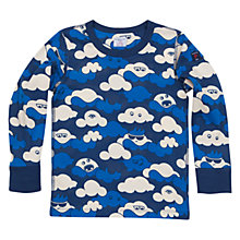 Buy Polarn O. Pyret Children's Cloud Print Top, Blue Online at johnlewis.com