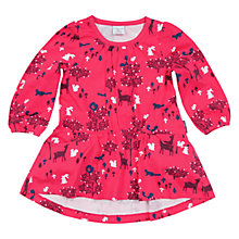Buy Polarn O. Pyret Children's Woodland Day Dress, Pink/Multi Online at johnlewis.com