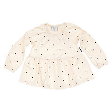Buy Polarn O. Pyret Girl's Heart Motif Tunic, White Online at johnlewis.com