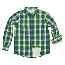 Buy Polarn O. Pyret Boy's Lined Check Shirt, Green Online at johnlewis.com