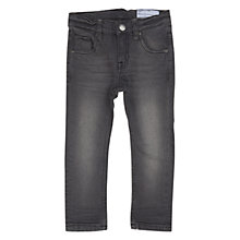 Buy Polarn O. Pyret Children's Washed Denim Jeans, Grey Online at johnlewis.com