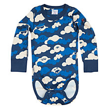 Buy Polarn O. Pyret Baby's Cloud Print Bodysuit, Blue Online at johnlewis.com