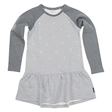 Buy Polarn O. Pyret Girl's Embroidered Dress, Grey Online at johnlewis.com