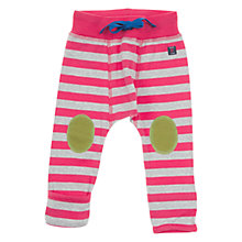 Buy Polarn O. Pyret Baby's Stripe Trousers, Pink/White Online at johnlewis.com