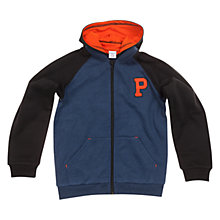 Buy Polarn O. Pyret Children's Colour Block Hoodie, Blue Online at johnlewis.com