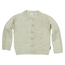 Buy Polarn O. Pyret Marl Cardigan, White Online at johnlewis.com