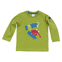 Buy Polarn O. Pyret Frog Skater Long Sleeve Top, Green Online at johnlewis.com