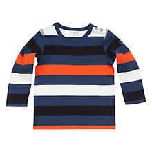 Buy Polarn O. Pyret Block Stripe Long Sleeve Jumper, Blue/Multi Online at johnlewis.com