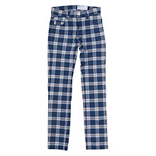 Buy Polarn O. Pyret Slim Check Jeans, Blue/Red Online at johnlewis.com