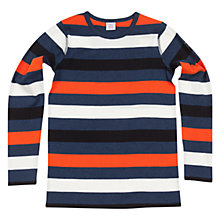 Buy Polarn O. Pyret Block Stripe Long Sleeve T-Shirt, Blue/Multi Online at johnlewis.com