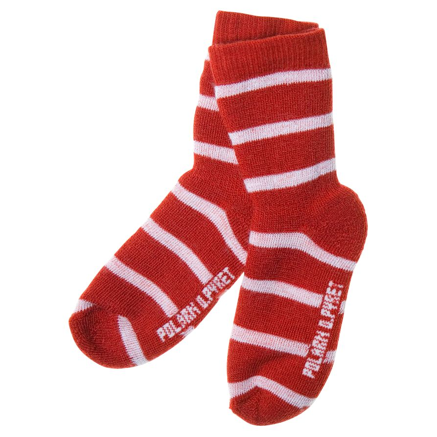 Polarn O. Pyret Children's Terry Wool Blend Socks, Red