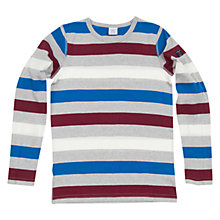 Buy Polarn O. Pyret Block Stripe Long Sleeve T-Shirt, Grey/Multi Online at johnlewis.com