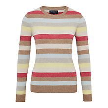 Buy Viyella Petite Stripe Jumper, Cognac Online at johnlewis.com