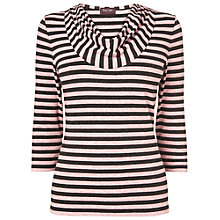 Buy Phase Eight Carrie Stripe Top, Charcoal/Pink Online at johnlewis.com