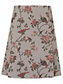 Phase Eight Sorrel Tapestry Bird Skirt, Grey