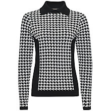 Buy Jaeger Mini Houndstooth Sweater, Black / Ivory Online at johnlewis.com