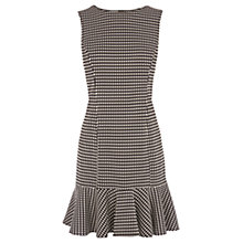 Buy Warehouse Mini Gingham Dress, Black/Multi Online at johnlewis.com