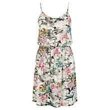 Buy Warehouse Hummingbird Print Sun Dress, Cream Online at johnlewis.com