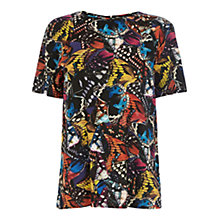 Buy Warehouse Butterfly Tee Shirt, Blue Online at johnlewis.com