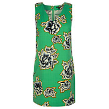 Buy Warehouse Stencil Floral Shift Dress, Mint Online at johnlewis.com