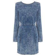 Buy Warehouse Denim V-Back Acid Wash Dress, Indigo Denim Online at johnlewis.com